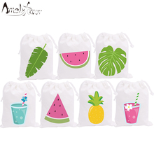 Summer Holiday Theme Party Favor Bags Watermelon Candy