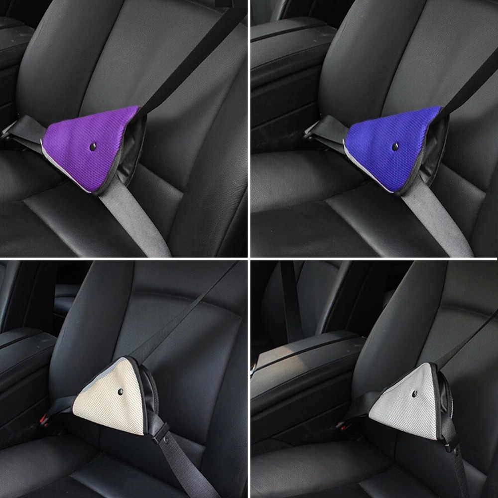 Ajustador de cinturón de seguridad para niños, Protector de cinturón de seguridad resistente a los niños, cinturón de seguridad Azul Rojo Beige para bebé