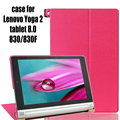 "Newest Stand Leather Skin High Quality Case Cover  For lenovo yoga tablet 8 8.0"" 830/830F Tablet +SCREEN STYLUS free shiping"