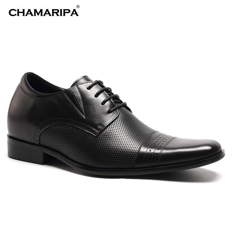 CHAMARIPA Elevator Shoes Men 7cm2.76 inch Increase Height