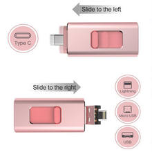 3,0 ich-Stick USB Memory Stick U Disk TYPE-C 4 in 1 für Android/IOS iPhone X XS 7 8 6 S PC 32 GB 64G 128G 256G(China)