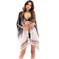 2018 New Plus Large Size Women Blouses Summer Style Chiffon Casual Loose Printing Shirts Open Stitch