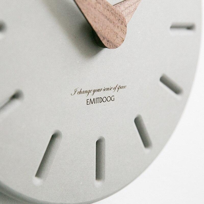 Grote Wandklok Minimalistische Nordic Klokken Houten Muur Horloge Modern Design Home Decoratie Accessoires Mode horloge muurschildering-in Wandklokken van Huis & Tuin op  Groep 3