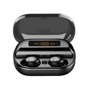 Image 1 - TWS 真のワイヤレスイヤホン 5.0 Bluetooth ヘッドフォン 8D ステレオ防水タッチイヤ led 4000 2600mah のパワーバンク