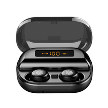 TWS True Wireless Earphone 5.0 Bluetooth Headphones 8D Stereo Waterproof Touch Control Earbuds with LED 4000mAh Power Bank