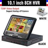 Новый 10.1 ЖК дисплей Мониторы CCTV 8ch 720 P Регистраторы HDMI Выход AHD dvr 8 канальный HVR видеорегистратор NVR Поддержка аналоговый IP Камера 3G WI FI