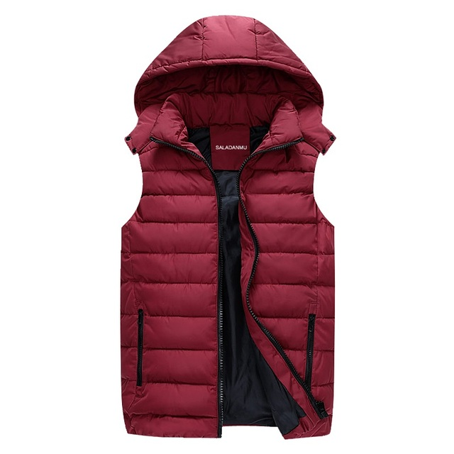 New Brand Men Warm Winter Waistcoat Men's Outwear Down Vest Jacket Thick Winter Sleeveless Coat Man XXXXXXL Padded Down Vest