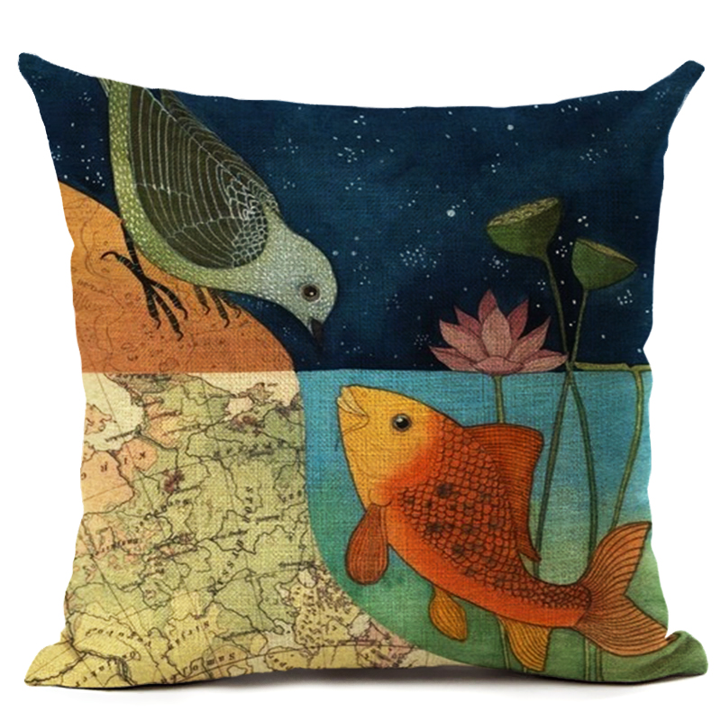 Tree Birds Cushion Covers Chinese Style Candy Color Soft Pillow Covers Baby Bedroom Sofa Decoration Spring Home Decor Cojines