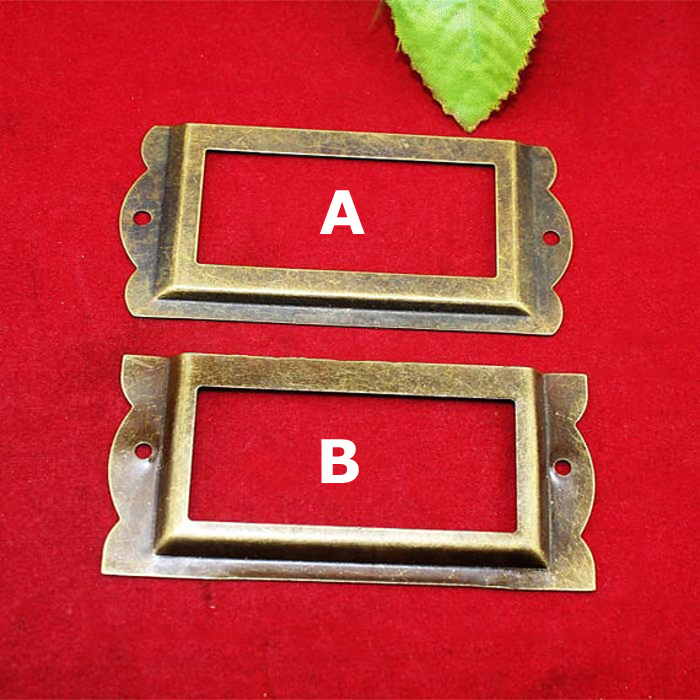 85*42MM Antique Office Library File Cabinet Drawer Name Card Label Holder Frames Name Plate Book Plate riggs r library of souls