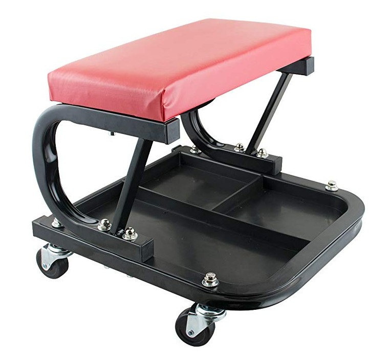 Auto Workshop Bench Garage Equipment Vehicle Tools Rolling With Creeper Seat