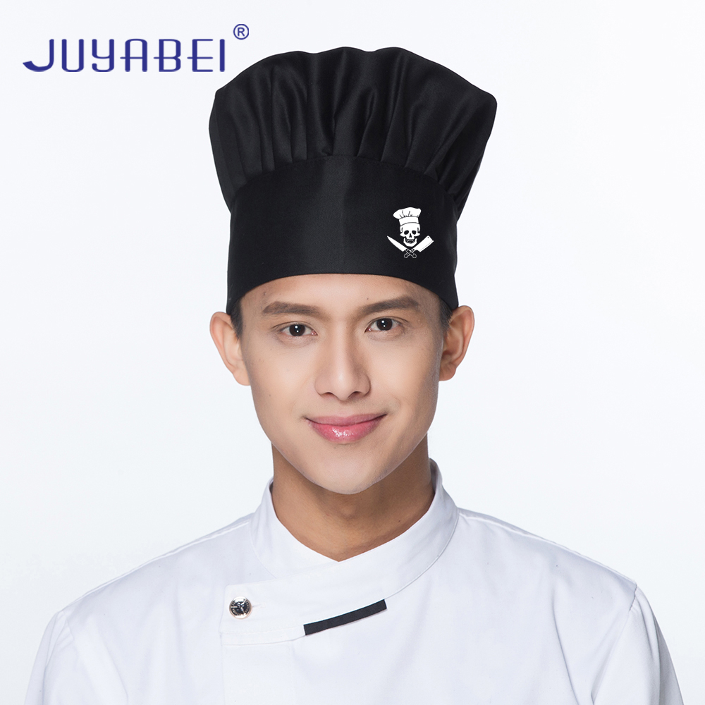 Free LOGO Hoe Printing Men's And Women's Chef's Hat Restaurant Kitchen Catering Waiter Work Cap Barbecue Mushroom Hat Wholesale