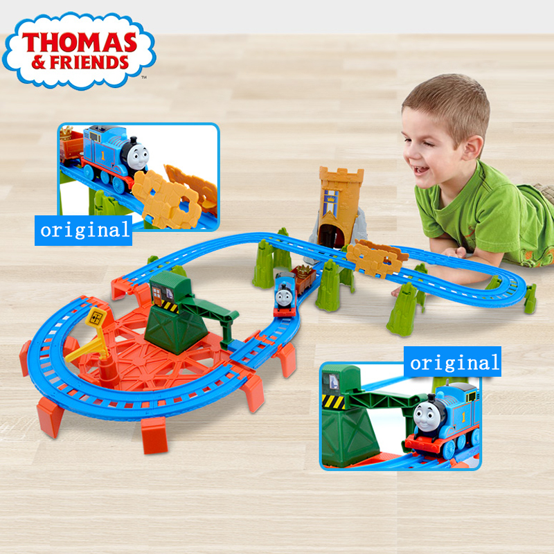 Original Brand Thomas and Friends Carros Track Model Cars Diecast 1:18 Train Kids Plastic Metal Toys For Children Juguetes