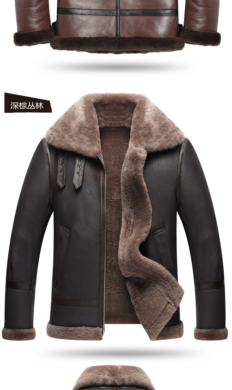 HTB1JwTBdi6guuRjy1Xdq6yAwpXap AYUNSUE Genuine Leather Jacket Men Winter Australian Natural Fur Real Sheepskin Coat for Men Lamb Fur Flight Men's Jackets KJ853