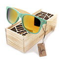 New arrival 2016 Fashion Wood Bamboo Sunglasses Women's Cute Eyewear Sun Glasses Handmade Cheap Sunglasses BS025