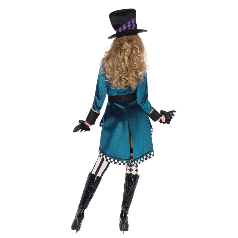Image 2 - Halloween Alice in Wonderland Costumes Women Magician Cosplay Girls Princess Quess Magic Cosplay Female Coat
