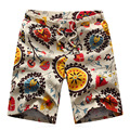 Men's Beach Shorts Printing 2016 Summer Thin Section Breathable Comfort Casual Men's Linen Shorts Large Size M-6XL 12034