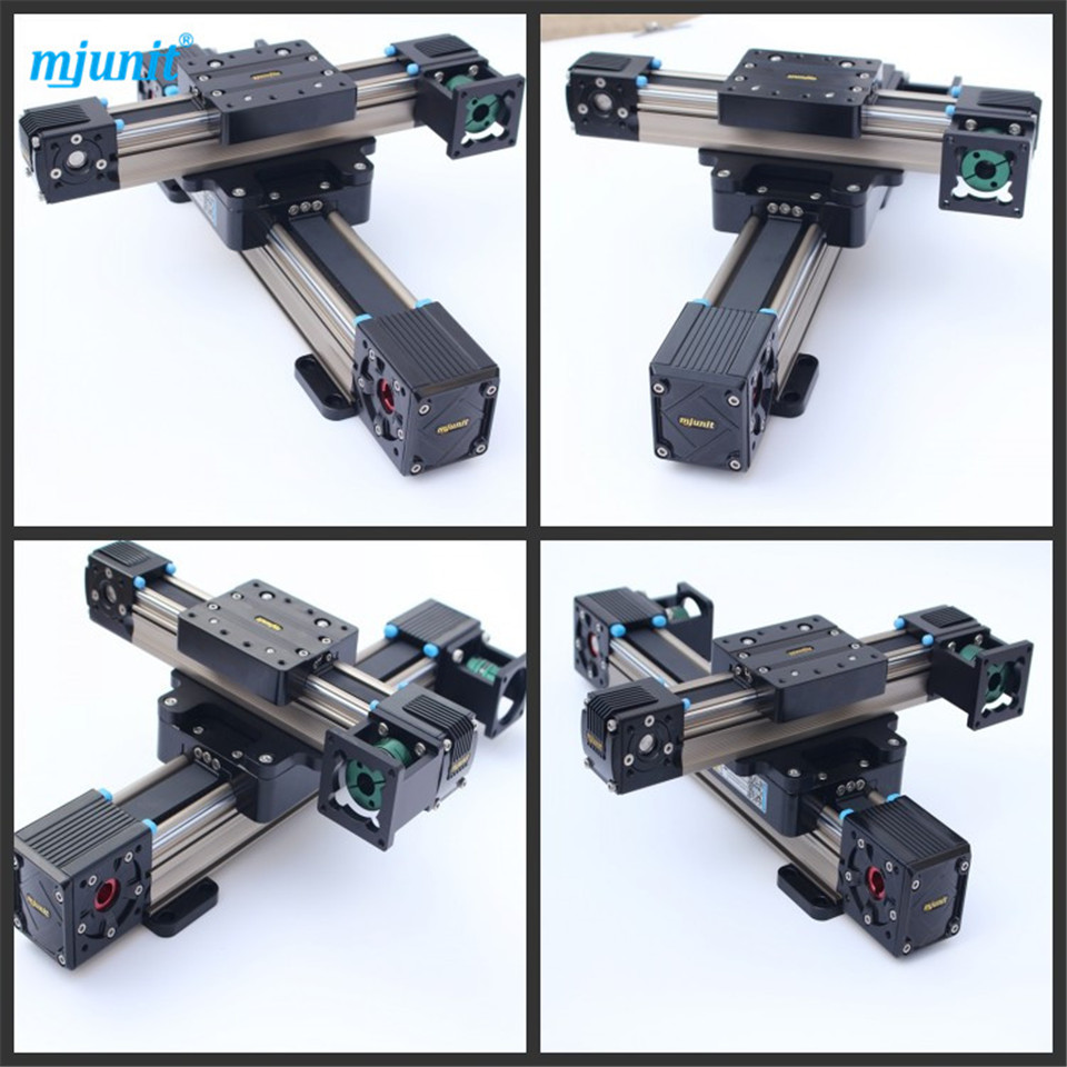 Guide Linear Slide Rail 2 blocks Belt drive Actuator Linear Guide Motion Rail professional manufacturer of linear actuator system axes position linear guide way linear rail