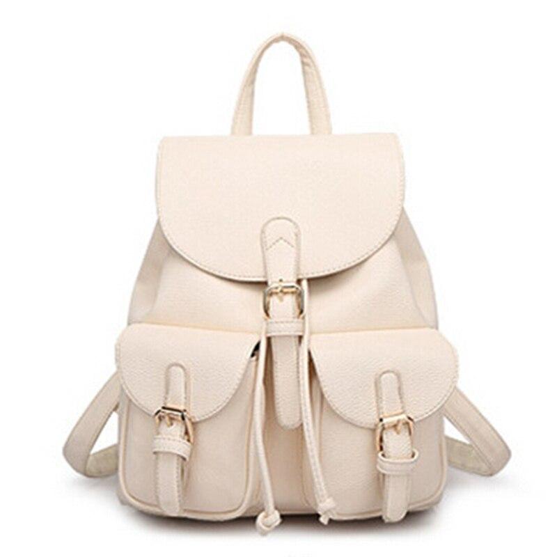 ... Women Leather Backpack Black Bolsas Mochila Feminina Large Girl  Schoolbag Travel Bag School Backpacks Candy Color Pink. 40% Off. 🔍  Previous. Next 585ed075c58e1