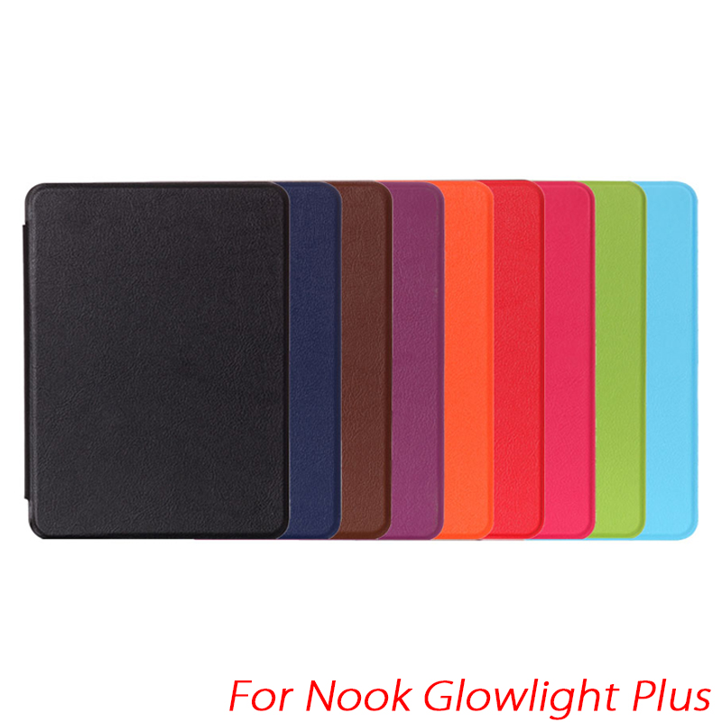 Kasite Heat Press PU Leather Cover Case for Nook Glowlight Plus 6'' eBook Reader Case High Quality protective pu leather pc case for nook glowlight brown black