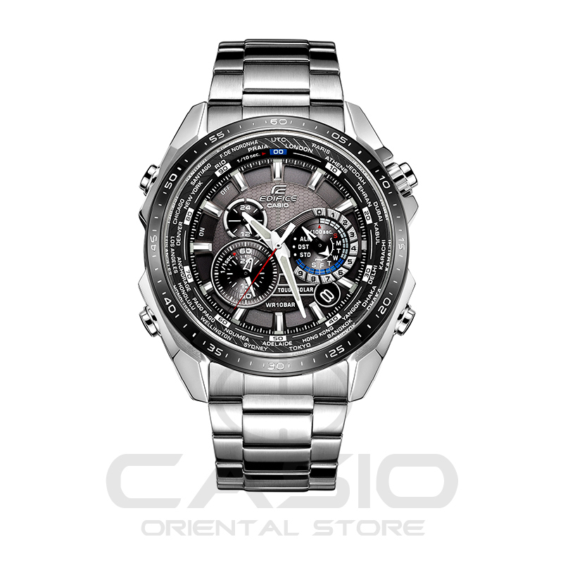 Casio Watch Solar Energy Waterproof Steel Band Wrist-watches Relogio Masculino Mens Watches Top Brand Luxury clock EQS-500DB casio eqs 500db 1a2