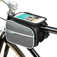 Cycling Bike Bicycle Front Top Tube Frame Pannier Touch Screen Double Saddle Bag Pouch Phone Holder Bicycle Accessories
