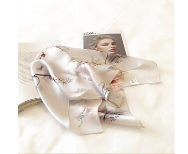 SC87 Fashion Flower Little Ribbon Female Silk   Scarf     Scarves   &   Wraps   Bags Handle Decoration