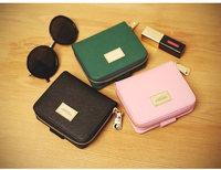 women cross grain pu brief paragraph twenty percent multi-purpose wallet zero coin purse contracted handbags bags