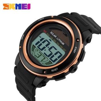 ba8fd6b4d6d7 2018 Relojes Dijital Güneş Izlemek Kadın Spor Saatler Relogio Masculino  Reloj Lityum Marka Askeri Su Geçirmez Kadınlar Kol