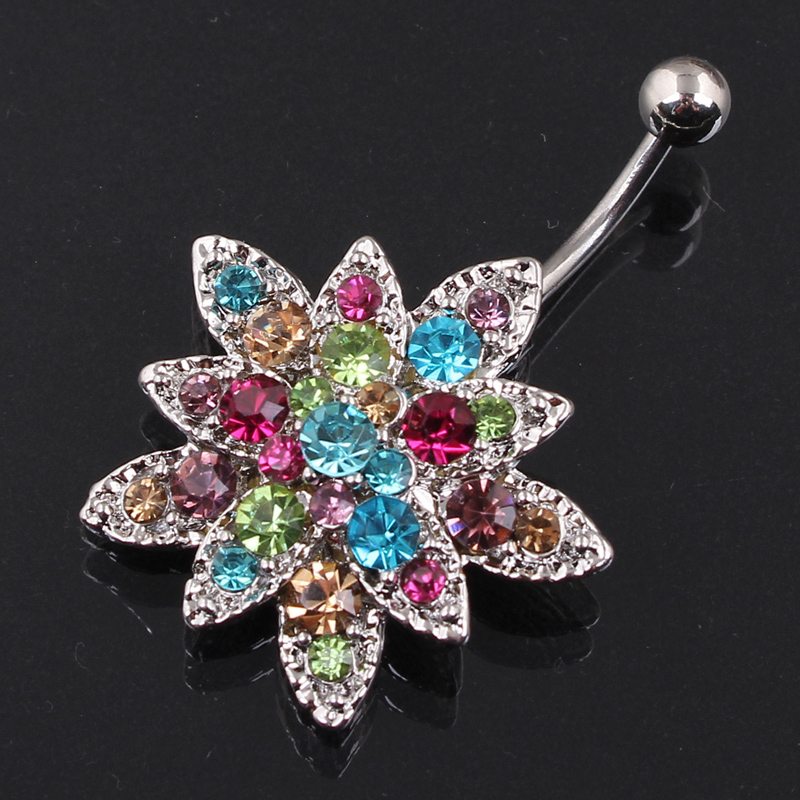 Flowers Belly Button Rings...