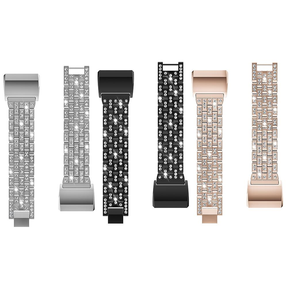 Fashion Five Beads Five Rows Inlaid Rhinestone Zinc Alloy Metal Smart Watch Band For Fit ...