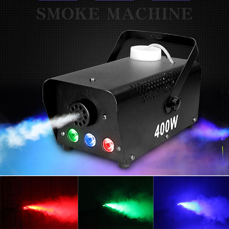 500W Mini sans fil télécommande LED Machine à fumée rvb couleur choix LED machine à brouillard professionnel LED scène fabricant de fumée