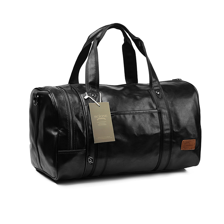 Hot A++ Outdoor Large Capacity Multifunction Portable Travel Sports Gym Fitness Men's Sports Bag PU Leather Tote Duffel bag