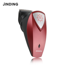 JINDING Red Men's Electric Hair Clipper Trimmer Self-service