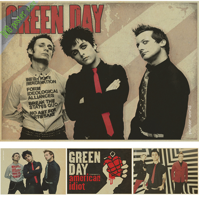 green day poster group american idiot vintage poster punk rock
