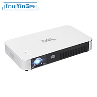 Touyinger G3 3D Мини Android DLP проектор подгонять по Xgimi Z3 SLP Telecom 1280x800 200 ''LAN WI FI HDMI домашний Театр проектор