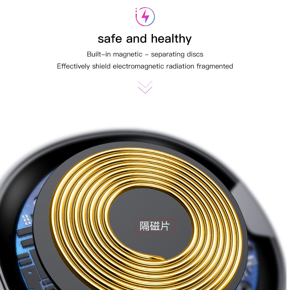 Image 3 - Baseus ufo carregador sem fio para iphone x 8 xr xs para samsung  nota 10 s10 s9 10 w qi almofada de carregamento sem fio para p30 xiaomi  mi 8 9phone wireless chargerwireless chargerqi wireless charger -