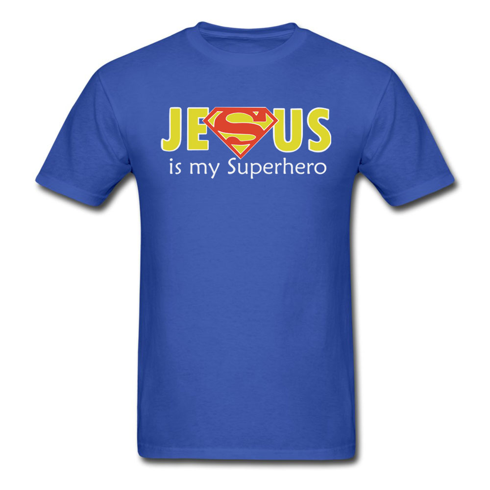 Jesus Is My Superhero T Shirt Men and Women Cool Tee big ...
