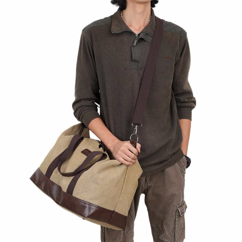 Hot Sales Large Capacity Canvas Travel Bags Men Portable Single Shoulder Bag storaging Ancient Ways Working Out The Package (7)