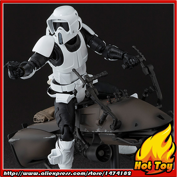 100% Original BANDAI Tamashii Nations S.H.Figuarts (SHF) Exclusive Action Figure - Scout Trooper & Speeder Bike from Star Wars 100% original bandai tamashii nations s h figuarts shf exclusive action figure garo leon kokuin ver from garo
