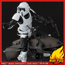 """100% Original BANDAI Tamashii Nations S.H.Figuarts (SHF) Exclusive Action Figure – Scout Trooper & Speeder Bike from """"Star Wars"""""""