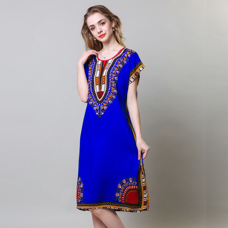 Bohemian Style Women's Cotton   Nightgowns   Ladies Oversize Sleepwear 2019 Summer New Girls Loose   Sleepshirt   casual Dress