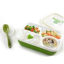 4 Compartimentos Bento Fijado Para Niños Multifuncional Recipiente de Comida Para Microondas Bento Box Para Los Adultos