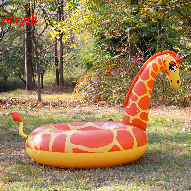 Perfect Amysh 160cm Inflatable Giraffe Swimming Ring Giant Pool Float Mattress  Swimming Circle Adult Beach Summer Water
