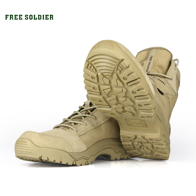 FREE SOLDIER Outdoor Sports Tactical Camping Shoes Men's Boots For Climbing Breathable Lightweight Mountain Boots Hiking Shoes