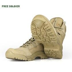 SOLDADO LIVRE Esportes Ao Ar Livre de Acampamento Tático Sapatos dos homens Botas Para Botas De Montanha Caminhadas Sapatos de Escalada Respirável Leve