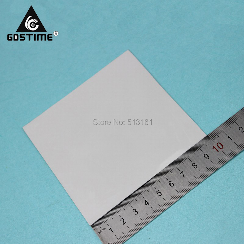 10 Pieces/lot Gdstime 100x100x0.5 MM CPU DIP IC Chip Cooling Heatsink Silicone Thermal Pad 0.5mm