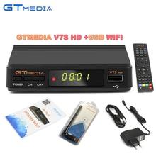 10 pcs GTmedia v7 Atualizar receptor de satélite Digital dvb-s2 Full 1080 P receptor V7S hd suporte Cccam cline 1 ano + wifi usb