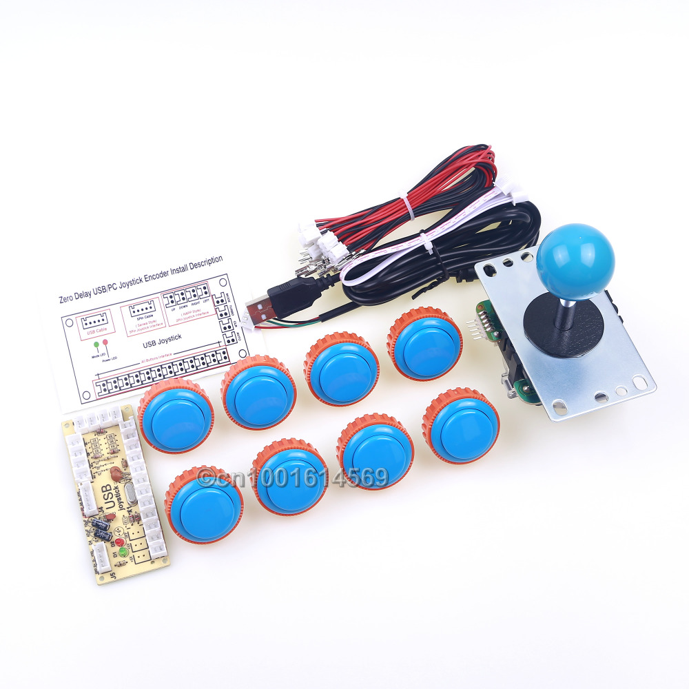 Arcade Sanwa Bundle DIY Kits 8 X 30mm Sanwa Button OBSN-30 Cables + Sanwa Stick + USB Encoder To Raspberry Pi 1 2 3 Retropie 3B oem 30 x 30 diy 30x30cm