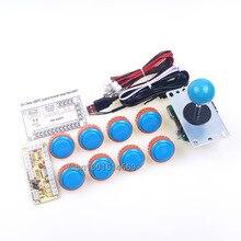 Sale Arcade Sanwa Bundle DIY Kits 8 X 30mm Sanwa Button OBSN-30 Cables + Sanwa Stick + USB Encoder To Raspberry Pi 1 2 3 Retropie 3B