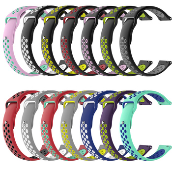 BOORUI amazfit bip strap 20mm 22mm Double Color Silicone Replacement Watchband For Xiaomi Huami Amazfit Bip youth watch 1